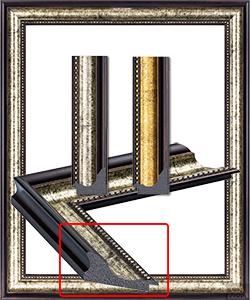 UJ 2010 กรอบรูปคลาสสิค สีเงินสีทอง ของเก่า