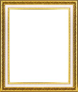 กรอบรูปลายหลุยส์ สีทองตัดขอบสีขาว