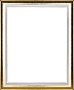 กรอบรูปสีทองแวววาว ขอบขาว