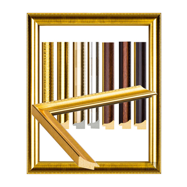 กรอบรูปสีทอง สีเงิน ลายไม้ ( 7 หุน)