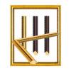 กรอบรูปสีทอง สีไม้ ( 6 หุน)