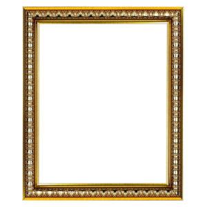 กรอบรูปสีทองลายปุ่มหลุยส์