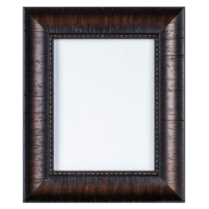 317M_133_3 Black wood frame with transverse lines