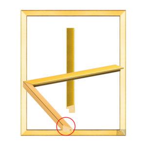 กรอบรูปขอบเอียง สีทอง ( 4 หุน )