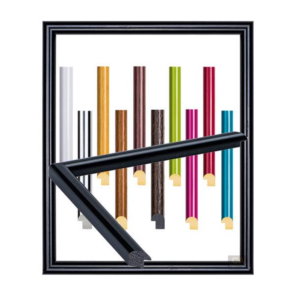 กรอบรูปสีไม้และสีสดใส ( 5 หุน)