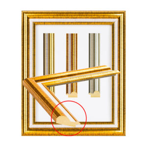 กรอบทองเงา ลายผ้า UJ 1301