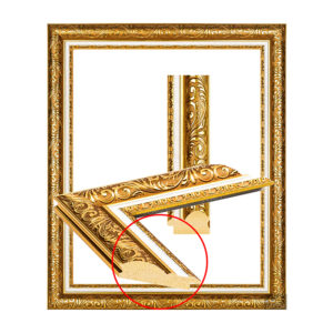 UJ 2101 beautiful gold frame-1
