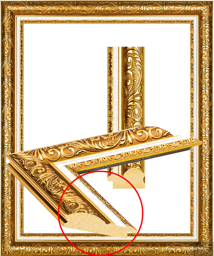 UJ 2101 beautiful gold frame
