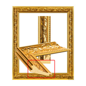 UJ 231 Louis gold frame, beautiful pattern-1