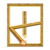 กรอบลายหลุยส์สีทอง ( 6 หุน)