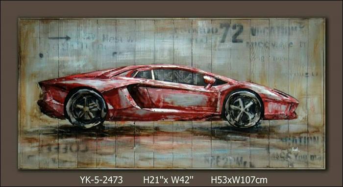 ภาพวาดรถสปอร์ต สีแดง